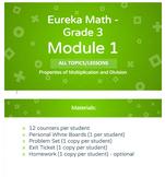 BUNDLE - Eureka Math - Grade 3 - Module 1 ALL TOPICS Lesso