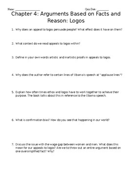 arguments and arguing chapter 3 and 4