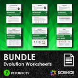 BUNDLE - Evolution Worksheets - Distance Learning