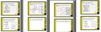 BUNDLE * Exit Ticket - Quad, Rad, Abs Val, & Reciprocal Function Transformation