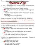 BUNDLE - FSA/PARCC Informational Text & Question Sets Volume 1