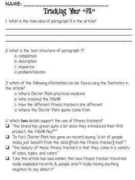 BUNDLE - FSA/PARCC Story Text & Question Sets Volume 1