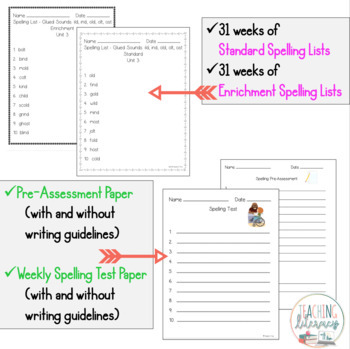 BUNDLE- FUNdamentally Differentiated Spelling Lists & Activities -Grades 1, 2, 3
