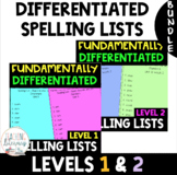 BUNDLE - FUNdamentally Differentiated Spelling Lists & Act