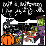BUNDLE Fall & Halloween Clip Art: Moveable for Paperless R
