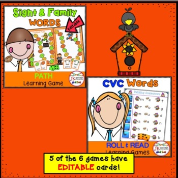 Fall Themed BUNDLE of Literacy Learning Games