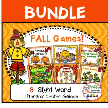 Literacy Learning Games BUNDLE - Fall Theme