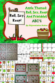 """BUNDLE!  Fall and Winter """"Roll, Say, Keep"""" Alphabet"""