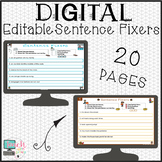 BUNDLE Fall and Winter Sentence Fixers for Google Clasroom