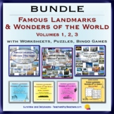 BUNDLE - Famous Landmarks & Wonders of the World Vol. 1-2-3 & E-book - Geography