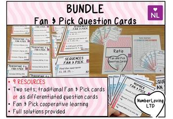 Maths Fan and Pick a Question Cards Complete Pack