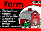 FARM BUNDLE-adapted books, centers, and activities all farm themed (SPED Autism)