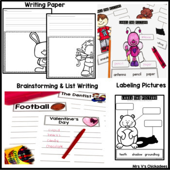 Writing Activities and Centers: February Bundle