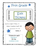 BUNDLE First Grade Exit Tickets / Slips Common Core Assessments  NO PREP