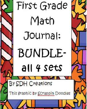 BUNDLE: First Grade Math Journals aligned to Common Core (4 of them)