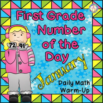 Number of the Day 1st Grade Year Long  Distance Learning Number Sense