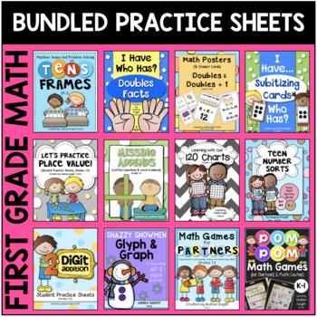 BUNDLE: First Grade Math Sheets & Games