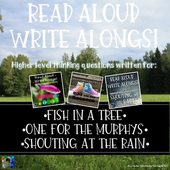 BUNDLE Fish in a Tree and One for the Murphys Read Aloud Write Alongs