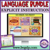 BUNDLE Five Complete Language Units NO PREP NO PRINT - Tel