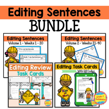 Editing Sentences - BUNDLE - 40 Weeks Plus 2 Bonus Games!
