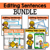 Editing Sentences - BUNDLE - 40 Weeks Plus 2 Bonus Games!