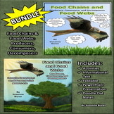 BUNDLE! Food Chains and Food Webs: Doodle Dat Notes, PowerPoint, Activities