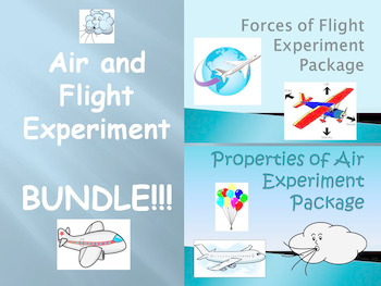 """BUNDLE: """"Forces of Flight"""" and """"Properties of Air"""" Experiment Packages"""