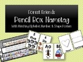 Forest Friends Flexible Seating Name Tag for Pencil Box + MORE