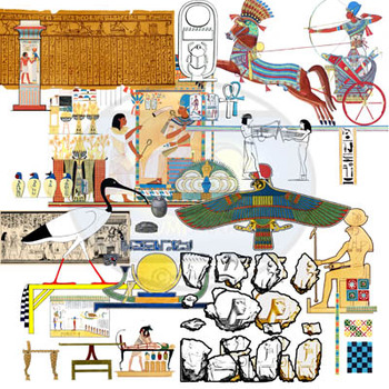 BUNDLE-Found Treasures Ancient Empires Clip-Art-200 Pieces! Public Domain Pics