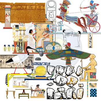 BUNDLE-Found Treasures Ancient Empires Clip-Art-200 Pieces! Public Domain Pics