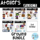 BUNDLE French Building blocs mats/ Atelier Blocs construct