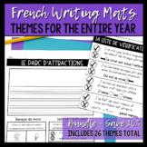 """BUNDLE: French Writing Mats / """"Tapis"""" d'écriture"""