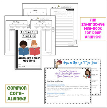 Front Desk by Kelly Yang CHARACTER TRAITS and VOCABULARY ACTIVITIES