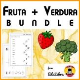 Fruits and Vegetables in Spanish - BUNDLE - Fruta y Verdura