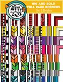 BUNDLE-Full Page Doodle Border-Big and Bold Set 1-BRIGHTS