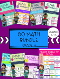 GO Math Vocabulary Word Wall Cards  BUNDLE Chapters 7-13 Grade 4