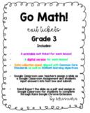 BUNDLE GOMath Grade 3 Exit tickets Ch.1-12. Digital Distan