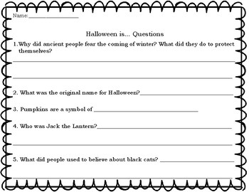 BUNDLE Gail Gibbons Halloween and Thanksgiving Is...Questions and Class Book