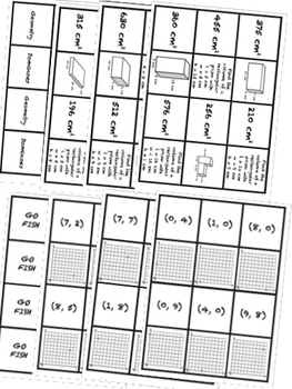 BUNDLE Geometry & Coordinates Math Stations for Fifth Grade Math