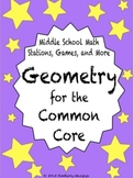 BUNDLE Geometry Math Stations for Common Core Sixth Grade