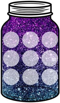 BUNDLE - Glittery Token Jars
