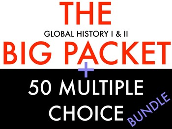 BUNDLE: Global I and Global II Review Packet AND 50 Multiple Choice with Key