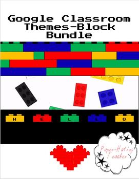 BUNDLE Google Classroom Animated Theme Block Bundle