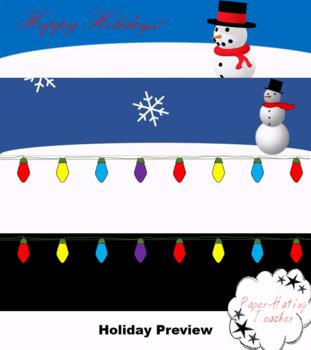 BUNDLE Google Classroom Animated Themes for the Holidays