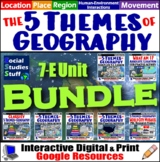 BUNDLE | Google Classroom | Intro to Five Themes of Geogra