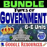 BUNDLE   Google Types of Government 5-E Digital Unit   Int