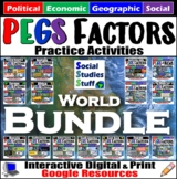 BUNDLE | Google Classroom | PEGS Factors by World Region |