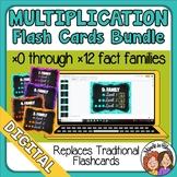 BUNDLE Google Digital Multiplication Flashcards 0x0 to 12x12 Distance Learning