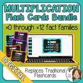 BUNDLE Google Digital Multiplication Flashcards 0x0 to 12x