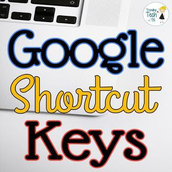 Google SITES/DRIVE/SLIDES/DOCS Shortcut Keys for Tech Students - Fully Editable!